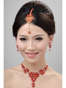 Wedding Headpieces Necklaces Earrings Set ZDRESS4000