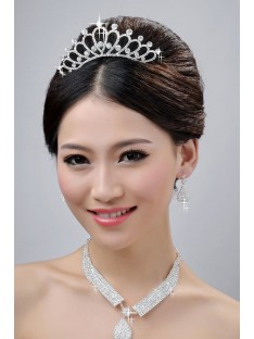 Wedding Headpieces Necklaces Earrings Set ZDRESS3877