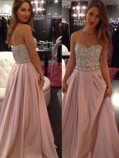 A-Line/Princess Sleeveless Sweetheart Floor-Length Chiffon Dresses