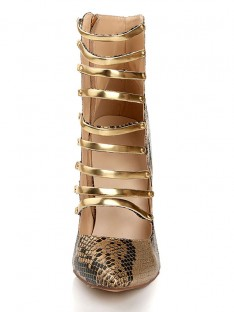 Snake Print Sandals Boots Lace Up s2lsdn1107lf