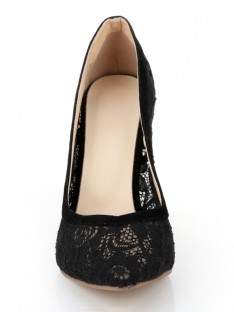 Heel Lace Black Office Shoes S2LSDN1162LF