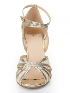 Heel Gold Sandal Shoes S2LSDN1163LF
