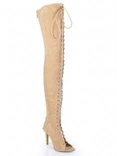 Suede Heel Over The Knee Boots S5LSDN1204LF