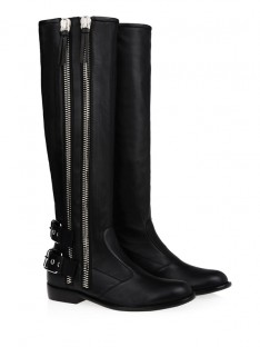 Kitten Heel Zipper Knee High Boots S5LSDN1250LF