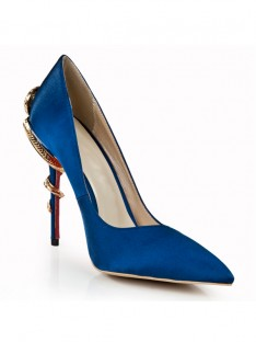 Royal Blue Heel Dress Shoes S5LSDN1282LF