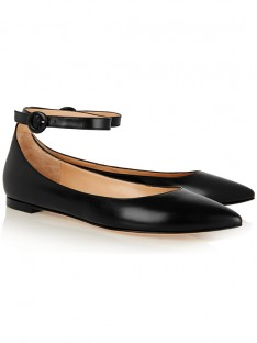 Women's Sheepskin Closed Toe with Ankle Strap Flat Shoes