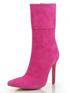 Heel Suede Mid-Calf Boots S5MA0350LF