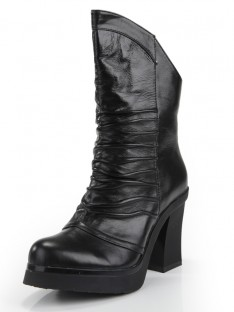 Ruched Mid-Calf Boots S5MA0354LF