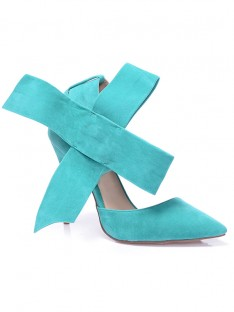Heel Suede Knot Party Shoes S5MA0377LF
