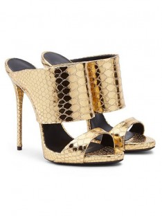 Gold Heel Sandal Shoes S5MA04100LF