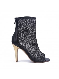 Lace Heel Party Sandal Ankle Boots S5MA04137LF