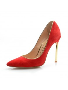 Suede Heel Evening Shoes S5MA04162LF