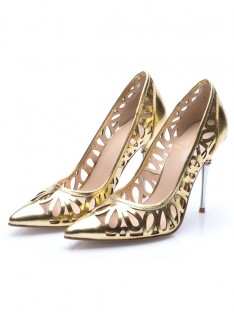 Heel Gold Evening Shoes S5MA0477LF