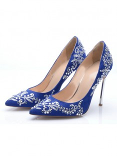 Suede Heel Evening Shoes S5MA0480LF
