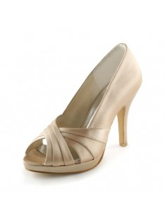 Heel Platform Sandals Wedding Shoes S237039