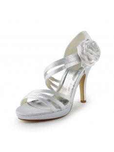 Heel Platform Sandals Wedding Shoes Flower S137032