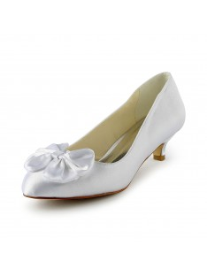 Kitten Heel Pumps Wedding Shoes S10112