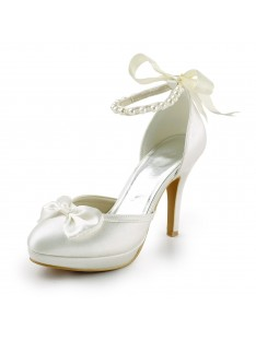 Heel Platform Pumps Wedding Shoes S23703C