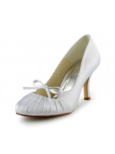 Heel Pumps Wedding Shoes Ruched S1A31B15