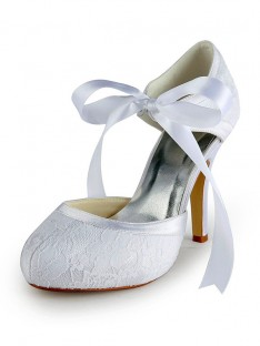 Heel Pumps Lace Wedding Shoes S137030A