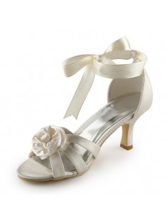 Heel Sandals Wedding Shoes Flower S21403110