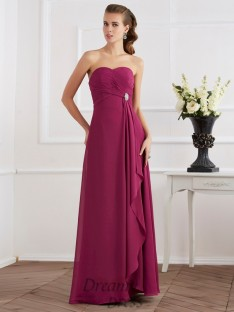 Sheath/Column Sweetheart Chiffon Floor-Length Dress