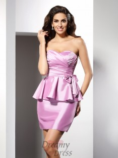 Sheath/Column Sweetheart Short/Mini Taffeta Dress