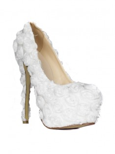 Heel Platform Flowers Wedding Shoes SMA02060LF