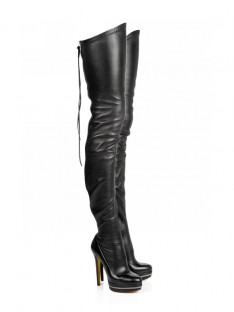 Elastic Heel Platform Over The Knee Boots SMA02780LF