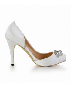 Heel Silk Platform Wedding Shoes SMA02870LF