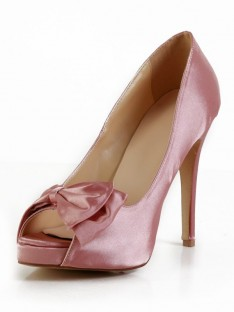Heel Silk Platform Wedding Shoes SMA02890LF