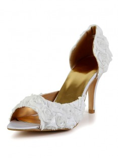 Heel Silk Wedding Shoes SMA02930LF