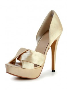 Heel Silk Platform Wedding Shoes SMA03030LF
