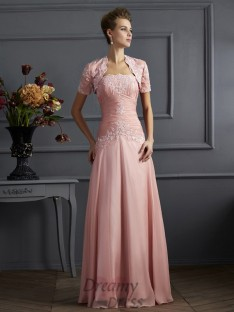 Strapless Chiffon Mother of the Bride Dress