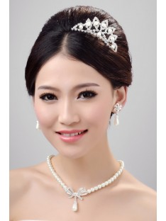 Wedding Headpieces Necklaces Earrings Set ZDRESS3992
