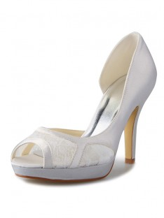 Heel Platform Lace Wedding Shoes SW0370801I