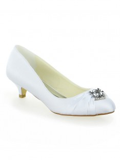 Lace Platform Kitten Heel Wedding Shoes SW115011131I