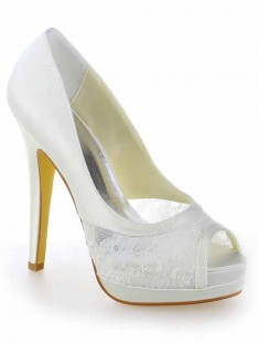 Lace Heel Platform Wedding Shoes SW115409191I