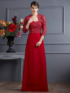 Sweetheart Floor-Length Chiffon Mother of the Bride Dress