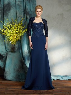 Sweetheart Satin Long Mother of the Bride Dress