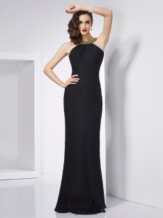 Trumpet/Mermaid Jewel Floor-Length Chiffon Dress