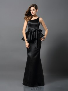 Trumpet/Mermaid One-Shoulder Satin Long Dress