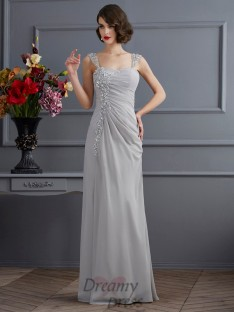 Trumpet/Mermaid Straps Chiffon Floor-Length Dress