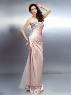 Trumpet/Mermaid Sweetheart Elastic Woven Satin Long Dress