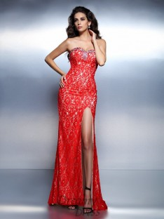 Trumpet/Mermaid Sweetheart Floor-Length Lace Dress