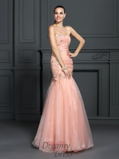 Trumpet/Mermaid Sweetheart Floor-Length Organza Dress