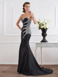 Trumpet/Mermaid Taffeta Strapless Sweetheart Floor-Length Dress