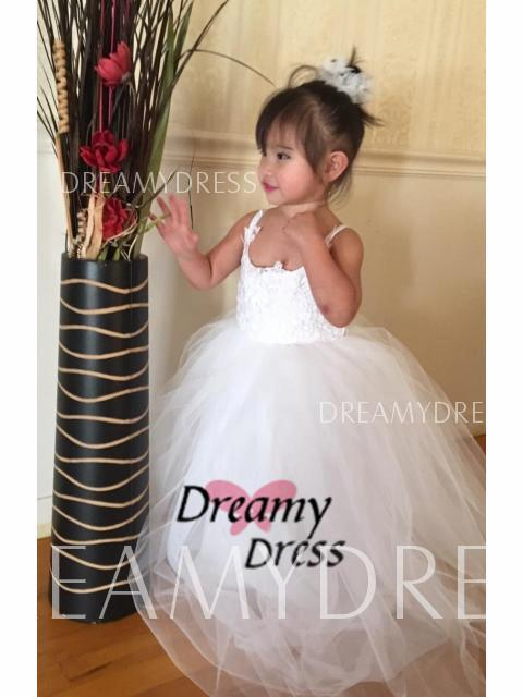 ec10ce9a546 Ball Gown Jewel Lace Floor-Length Tulle Flower Girl Dress